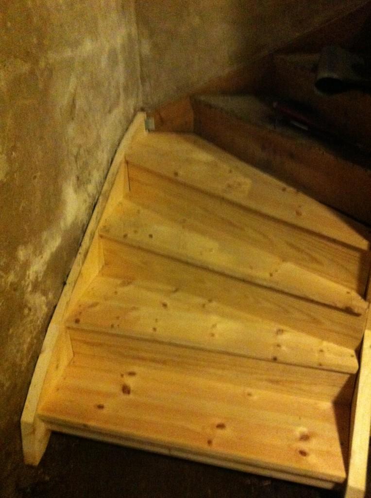 Renovering källartrappa - 3 - slutresultat