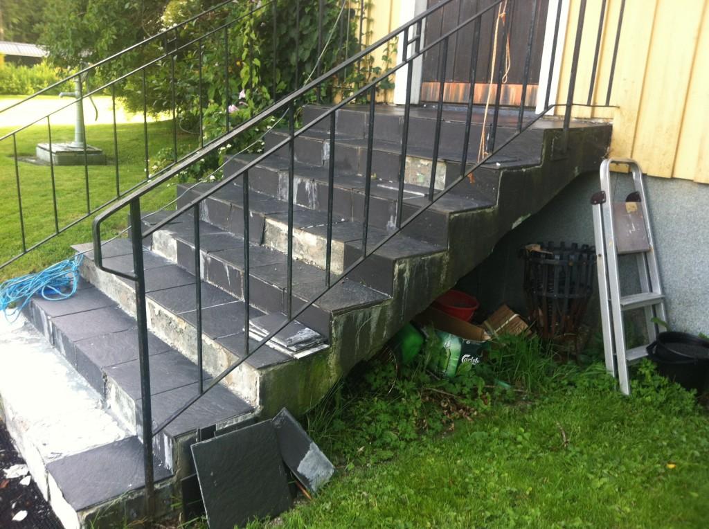 Inklädnad betongtrappa 1