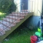 Inklädnad betongtrappa 2