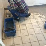 Nytt badrum - klinkerfogning